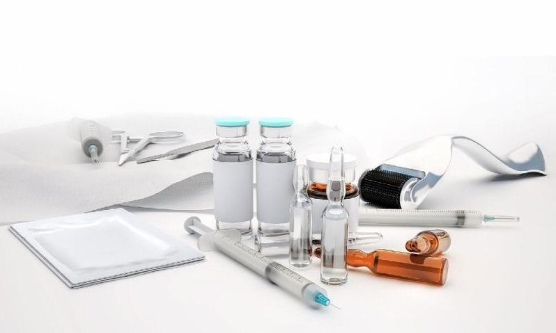 needles, rollers and other devices used for dermal fillers and other skin treatments